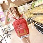 พร้อมส่ง กระเป๋าเป้ EXO สีแดง