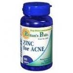 Puritan Zinc for Acne 100 เม็ด (USA) มีฤทธิ์ต้านอนุมูลอิสระ และลดความมันบนในหน้า ช่วยลดอาการอักเสบ และลดการเกิดสิว