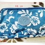 กระเป๋าสตางค์ kipling สีฟ้า 3 ซิป