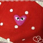 เสื้อ Play ไหมพรมลายจุดน่ารัก อ่ะ ดาราใส่กันเยอะ  สีแดง