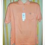 เสื้อโปโลผู้ชาย สีพื้น สีโอรส pl44010