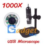 (พร้อมส่ง) กล้องจุลทรรศน์ USB Microscope กำลังขยาย 1000X ฐานพลาสติก มีไฟส่องในตัว (พร้อมส่ง)