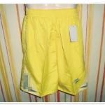 กางเกงกีฬา ขาสั้นสีเหลือง NE001