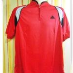 เสื้อกีฬา สีแดงคอซิป A5602