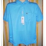 เสื้อโปโลผู้ชาย สีพื้น สีฟ้าเข้ม pl42004