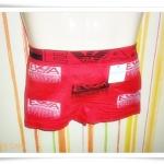 กางเกงในชาย เนื้อนุ่ม สีแดง M004