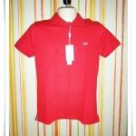 เสื้อโปโลผู้ชาย สีพื้น สีแดง pl46004