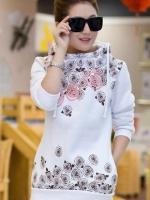 เสื้อผ้าแฟชั่น เสื้อผ้าเกาหลี Fashion printing patterns hooded sweater