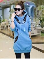 เสื้อผ้าแฟชั่นผู้หญิง Personalized printing dot hooded sweater trend