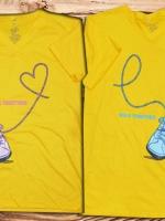 เสื้อคู่รัก รองเท้าคู่กัน cotton 100%