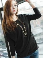 เสื้อผ้าแฟชั่น เสื้อผ้าเกาหลี Korean fashion side caught Zou fake two piece blouse
