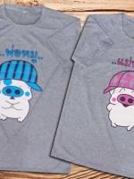 เสื้อคู่รัก พิมลาย พ่อหมู แม่หมู ......ฟรุ้งฟริ้ง ^ ^ Cotton100%