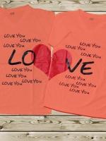 เสื้อคู่รัก ลาย หัวใจ LOVE LOVE