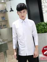เสื้อผ้าผู้ชาย | เสื้อเชิ้ต เสื้อเชิ้ตแขนยาว ลายสีขาว แฟชั่นไต้หวัน