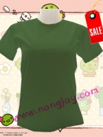เสื้อเปล่าสีเขียว ทหาร รด. คอกลม Size M