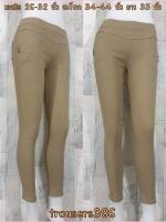 trousers386 กางเกงสกินนี่ขายาวแฟชั่นทรงสวย รอบเอว 26-32 นิ้ว กระเป๋าข้างและหลัง ผ้ายีนส์ยืดเนื้อหนายืดได้ตามตัว สีน้ำตาลกากี