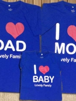 เสื้อครอบครัวพิมลาย I Love DAD-MOM