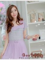 New !! Dress ผ้าโอซาก้าแต่งฟรุ้งฟริ้ง น่ารักมากค่ะ มีซับในทั้งตัวค่ะ