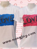 เสื้อคู่รัก LOVE  cotton 100%