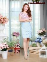 New ชุดเดรสผ้าHanakoพิมลายดอก กระโปรงชั้นสวยมากครับ
