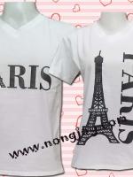 เสื้อคู่รักลาย หอคู่รัก PARIS สุดเลิฟ
