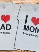 เสื้อคู่รัก I Love DAD -MOM cotton100%