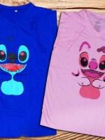 เสื้อคู่รัก ลายน่ารักฝุดแบบ สองสีคู่กัน