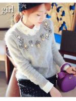 เสื้อไหมพรมสไตล์เกาหลี