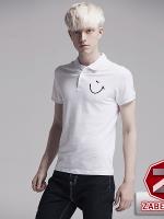 เสื้อผ้าผู้ชาย | เสื้อโปโล เสื้อโปโลแขนสั้น ลายสีล้วน แฟชั่นไต้หวัน