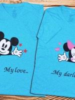 เสื้อคู่รักลาย My love Mydarling