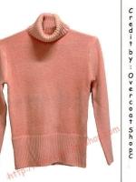 สเวตเตอร์ ( Sweater ) สําหรับผู้หญิง สีส้มอ่อน