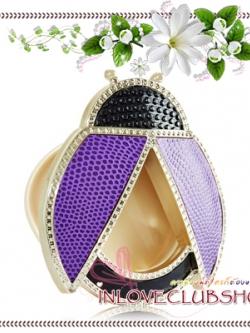 Bath & Body Works - Slatkin & Co / Scentportable Holder (Purple Ladybug)