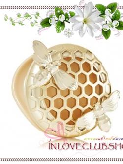 Bath & Body Works - Slatkin & Co / Scentportable Holder (Gold Honeycomb Bees)