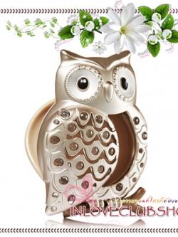 Bath & Body Works - Slatkin & Co / Scentportable Holder (Champagne Bling Owl)