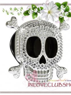 Bath & Body Works - Slatkin & Co / Scentportable Holder (Silver Bling Skull)