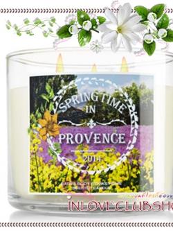 Bath & Body Works Slatkin & Co / Candle 14.5 oz. (Springtime In Provence) *Limited Edition
