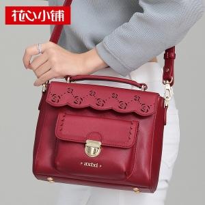 กระเป๋าสะพาย สีไวน์แดง-Axixi