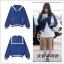 Preorder เสื้อกันหนาว แบรนด์ LUCKY CHOUETTE /Blouson Sailor Collar Jumper Cardiga thumbnail 1