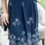 New ชุดเดรสผ้าชีฟองเนื้อทราย แขนสามส่วนระบาย กระโปรงชีฟองพิมลายดอกไม้ผีเสื้อ(มีซับไฮเกรดทั้งชุดครับ) thumbnail 3