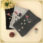 pre821 (preorder) กางเกงเลคกิ้ง ผ้ายืด ปักแมว 3 สี