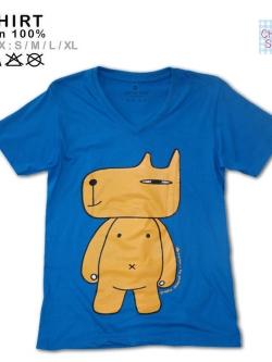 เสื้อยืดแฟชั่น คอวี ลายน่ารัก แนวๆ ลายหมามันนี่size S