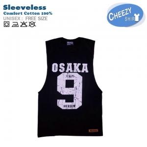 เสื้อกล้าม ลาย OSAKA9 สีดำ (FREE SIZE)