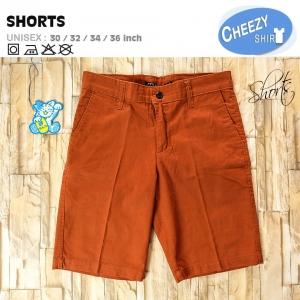 กางเกงขาสั้น เท่ แนวๆ สีส้มอิฐ