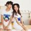 ชุดคู่รักสไตล์เกาหลี ลายโรนัลดัก สีขาว ชายเป็นเสื้อยืด หญิงเป็นเดรส น่ารักมากค่ะ thumbnail 1