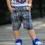 กางเกงขาสี่ส่วน Levis ลายตารางขาวน้ำเงิน thumbnail 2