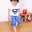 ชุดซุปเปอร์แมน เสื้อ+กางเกง สีน้ำเงิน thumbnail 5