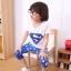 ชุดซุปเปอร์แมน เสื้อ+กางเกง สีน้ำเงิน thumbnail 4