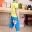 กางเกงขาสี่ส่วน สีฟ้า thumbnail 1