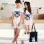 ชุดคู่รักสไตล์เกาหลี ลายโรนัลดัก สีขาว ชายเป็นเสื้อยืด หญิงเป็นเดรส น่ารักมากค่ะ thumbnail 7