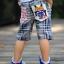 กางเกงขาสี่ส่วน Levis ลายตารางขาวน้ำเงิน thumbnail 1